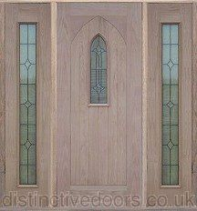 U0027Cathedralu0027 Triple Glazed Oak Elegant Entrance Door Set
