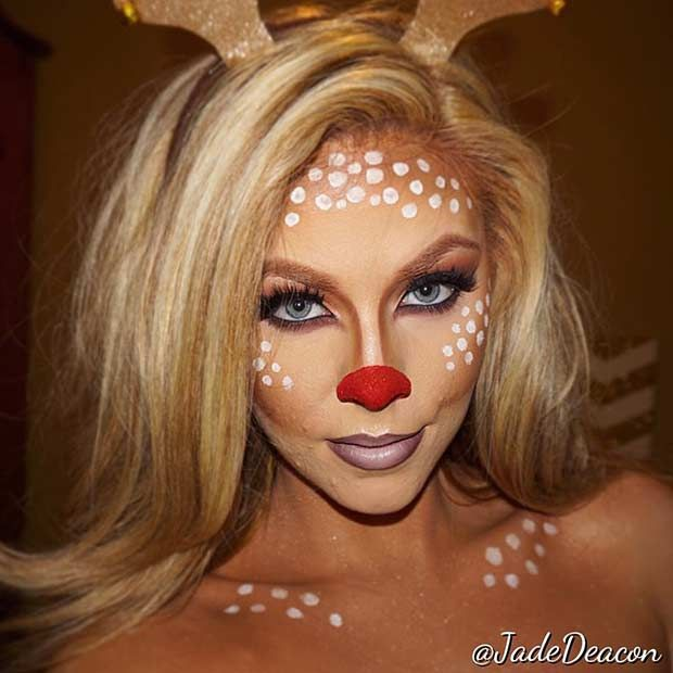 43 Pretty And Easy Halloween Makeup Looks Christmas Makeup Look