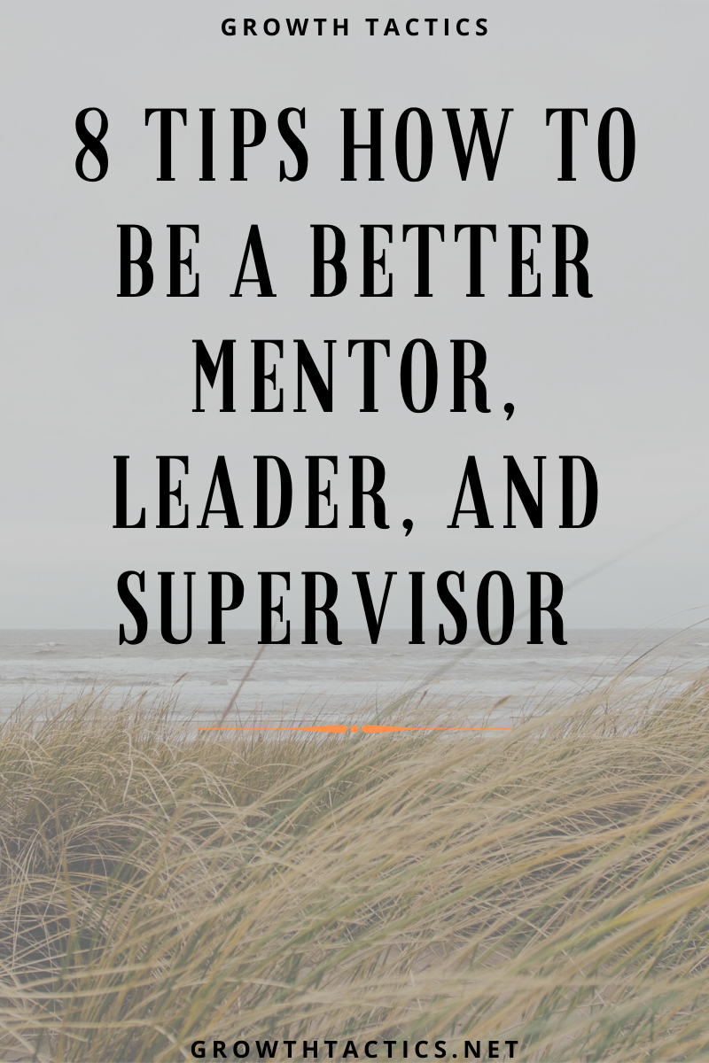 8 Tips How to be  a Better Mentor, Leader, and Supervisor