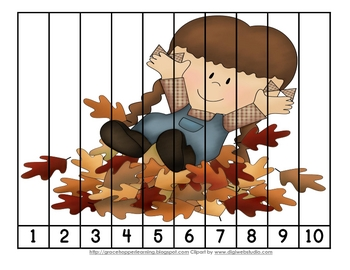 Fall Harvest Number Order And Skip Counting Puzzles Con Imagenes