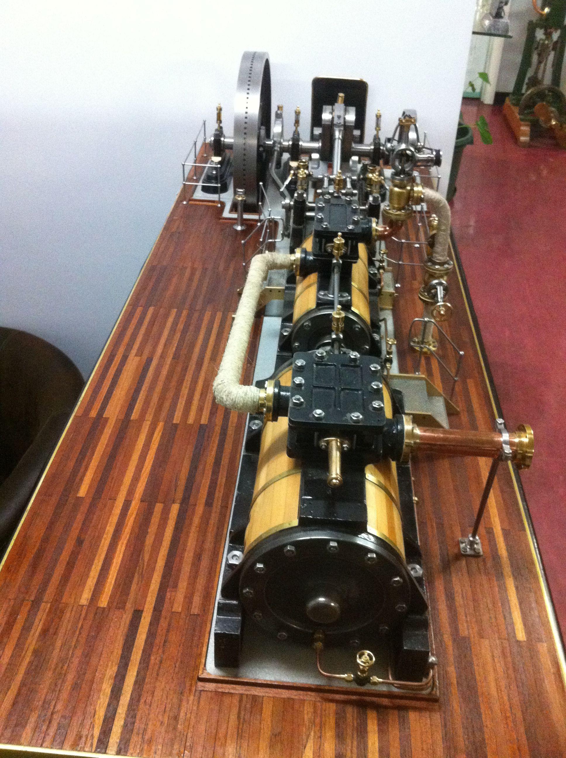 Model Steam Engine Tandem inline horizontal pound Mill
