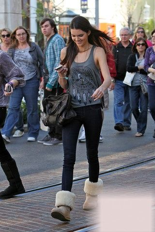 Kendall Jenner out with friends at the Grove