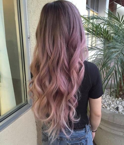 11 Elegant Curly Hairdo | Rose gold hair | Hair styles ...