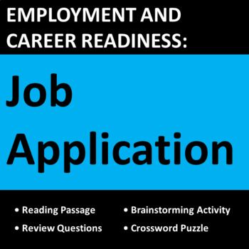 Employment \ Career Readiness Job Application Activities Career - employment applications