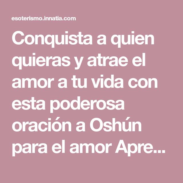 Oración a Oshun para el amor: atrae o haz que regrese el ser amado