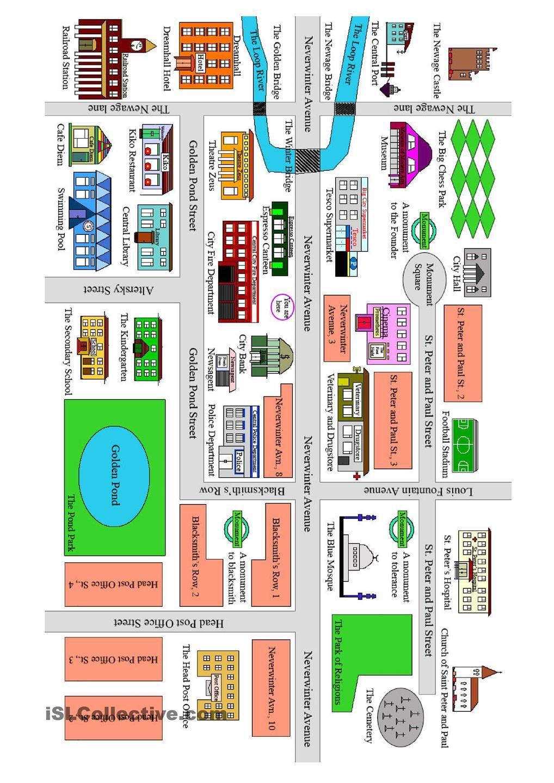 getting directions en pinterest worksheets esl ja teaching. Black Bedroom Furniture Sets. Home Design Ideas