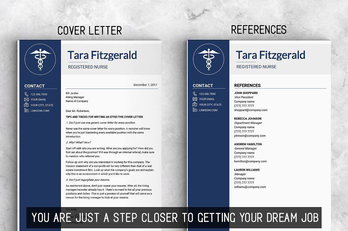 Nursing RESUME Template / MS Word Nursing resume