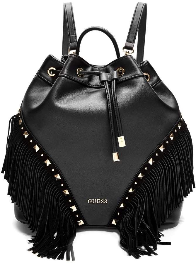 f44df3336d9c GUESS Tia Fringe Backpack | Backpacks | Fringe backpack, Backpacks ...