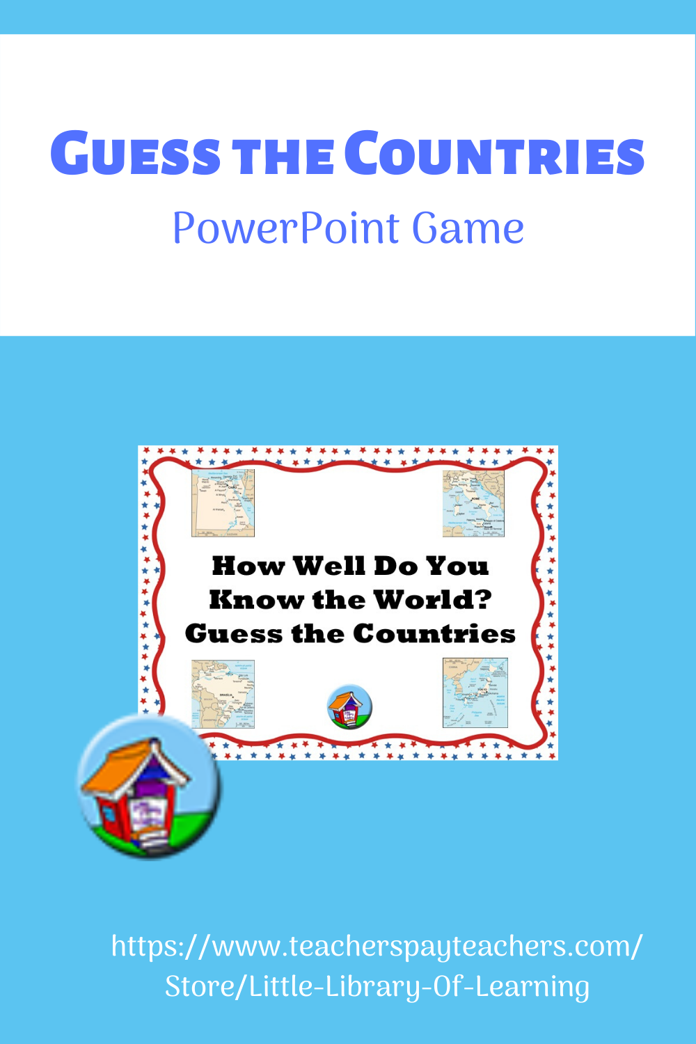 Guess the Countries -- PowerPoint Game in 2020   Powerpoint games [ 1500 x 1000 Pixel ]