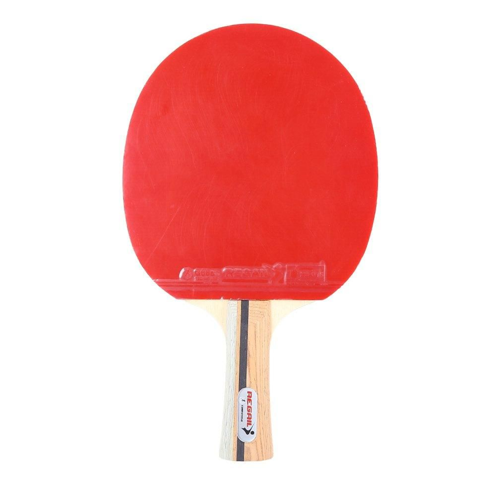 Regail D 007x Portable Professional Table Tennis Ping Pong Racket Center Focus Shake Hand Grip Honrizontal Grip Bat Paddle Ping Pong Paddles Shake Hands Rackets