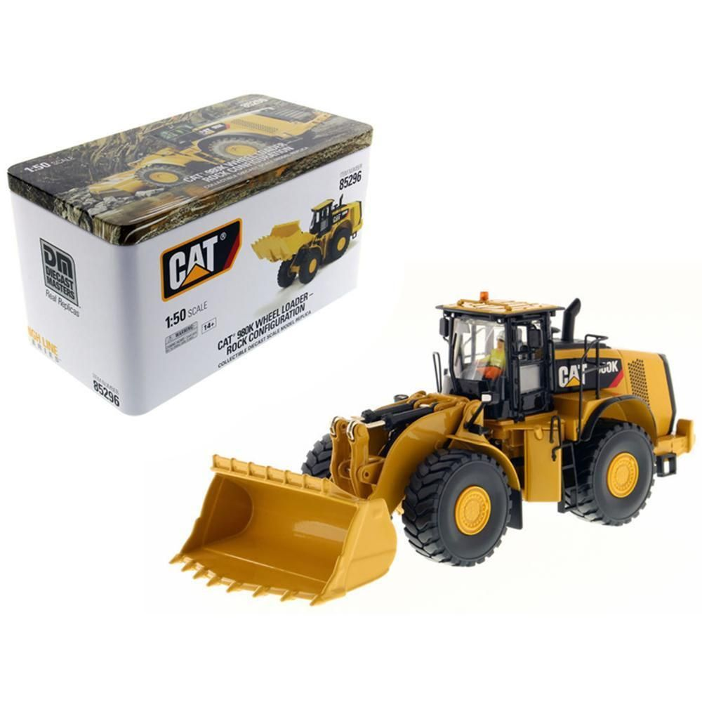 Caterpillar 980K Wheel Loader Rock Configuration with Operator High Line Series 1-50 Diecast Model by Diecast Masters