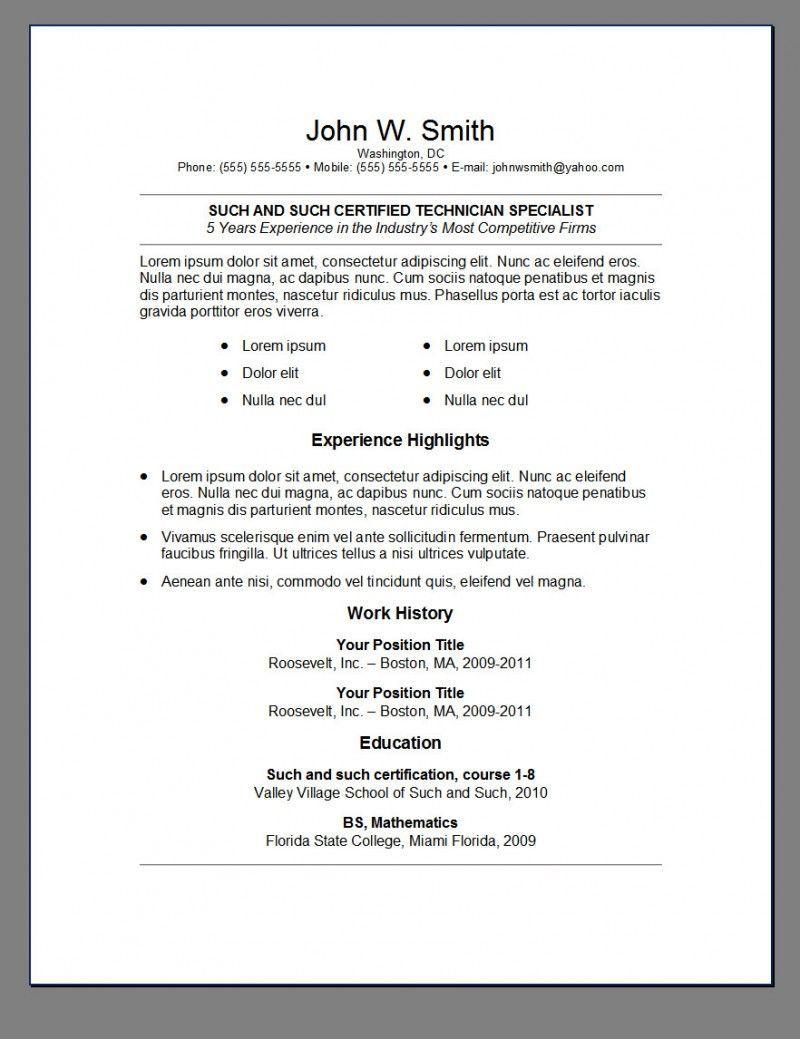 Resume Templates Reddit ResumeTemplates