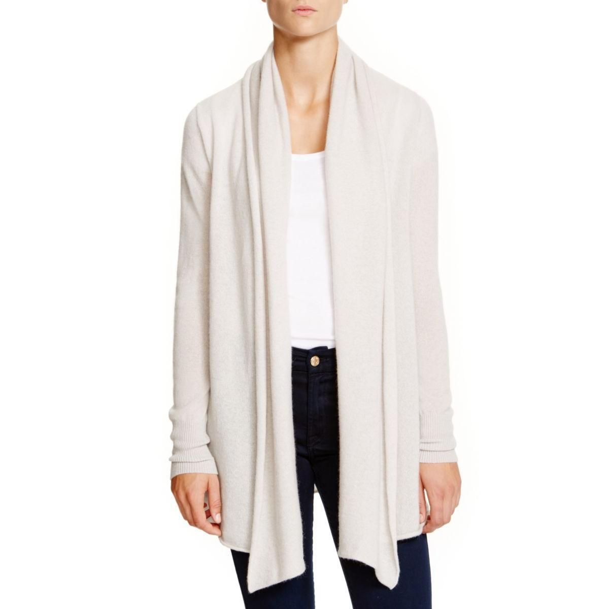 Private Label Womens Cashmere Open-Front Cardigan Sweater ...