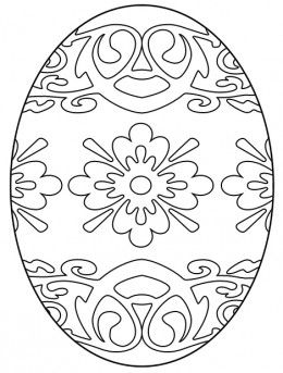 Free Online Easter Egg 3 Colouring Page  Kids Activity Sheets