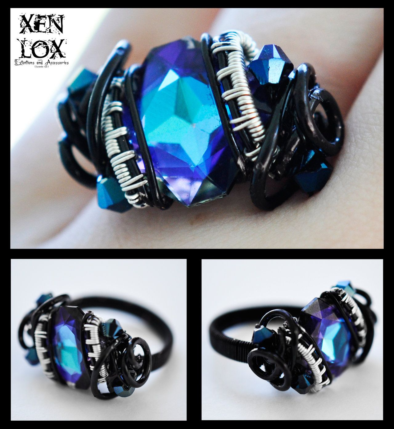 Blueviolet nebula ring my favorite its made out of