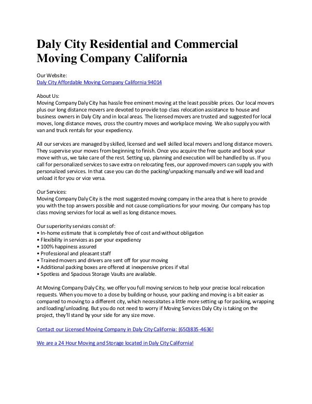 PBTP Moving Company Daly City By Moversdalycity Via Slideshare