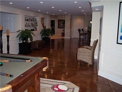 Stained Concrete Floors A Cost Effective Finish For The Basement - Cost effective basement flooring