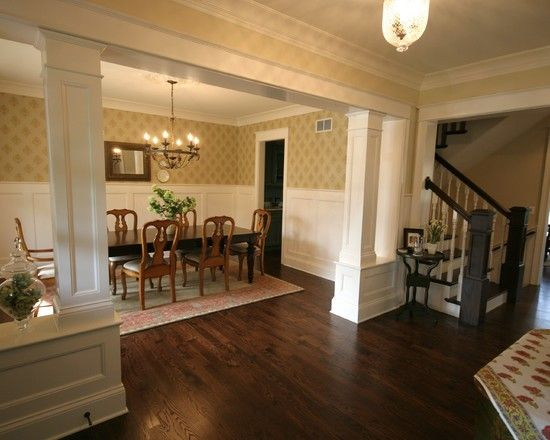 Half wall with column design pictures remodel decor and - Pictures of columns in living room ...