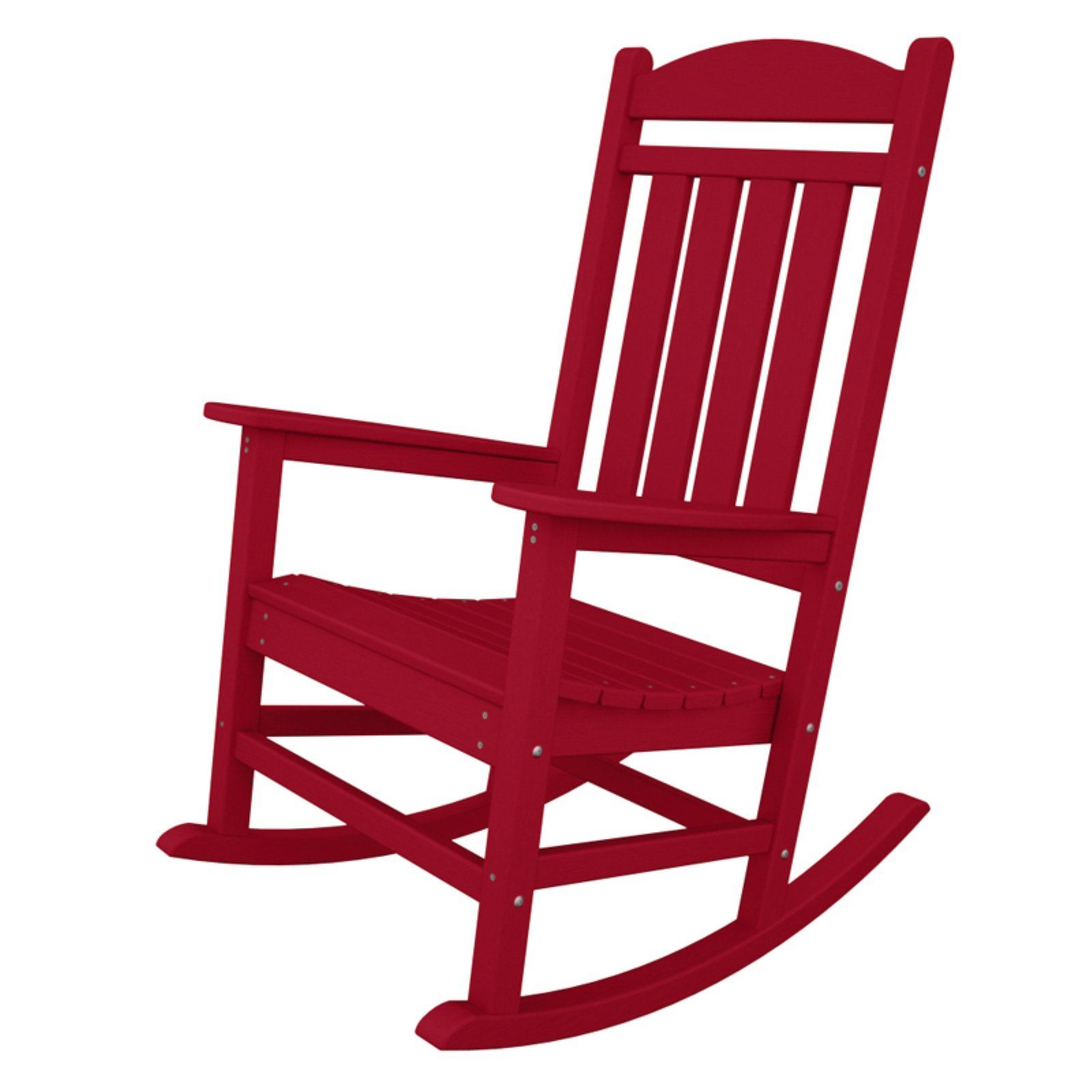 Outdoor PolywoodPresidential Recycled Plastic Rocking Chair Sunset Red