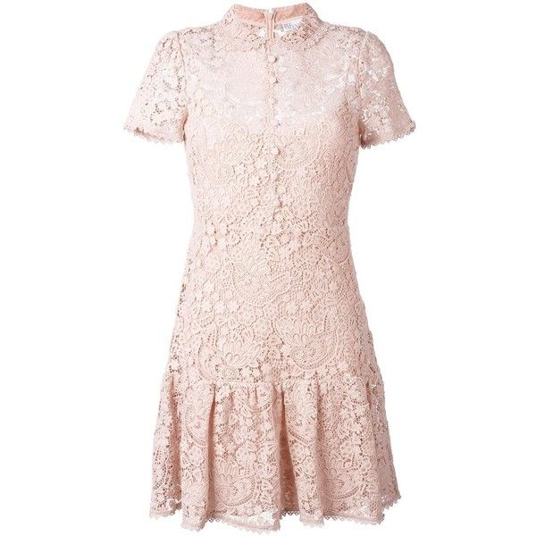Red valentino cameo lace trimmed dress