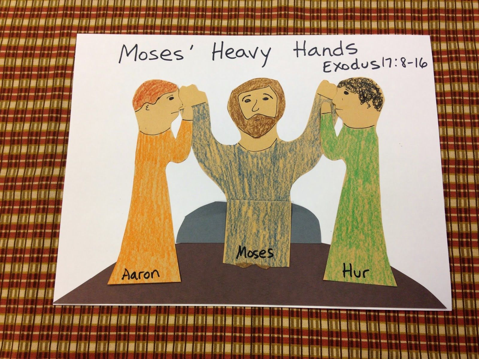 Lesson Moses Heavy Hands Bible Lessons For Kids