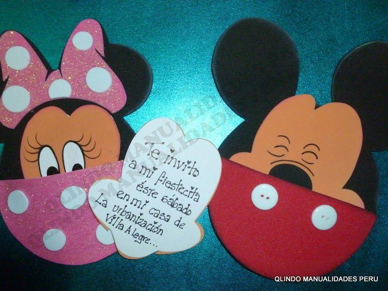 Tarjetas de invitacion minnie mouse buscar con google - Manualidades minnie mouse ...