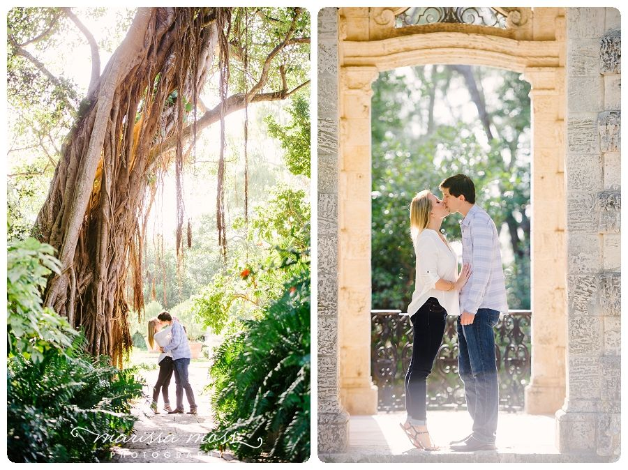 vizcaya gardens engagement photography | miami engagement photographer | marissa moss photography | marissa-moss.com