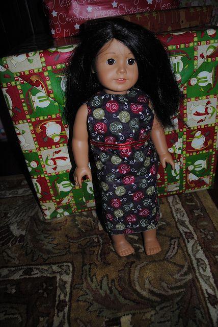 American Girl Doll Christmas Dress