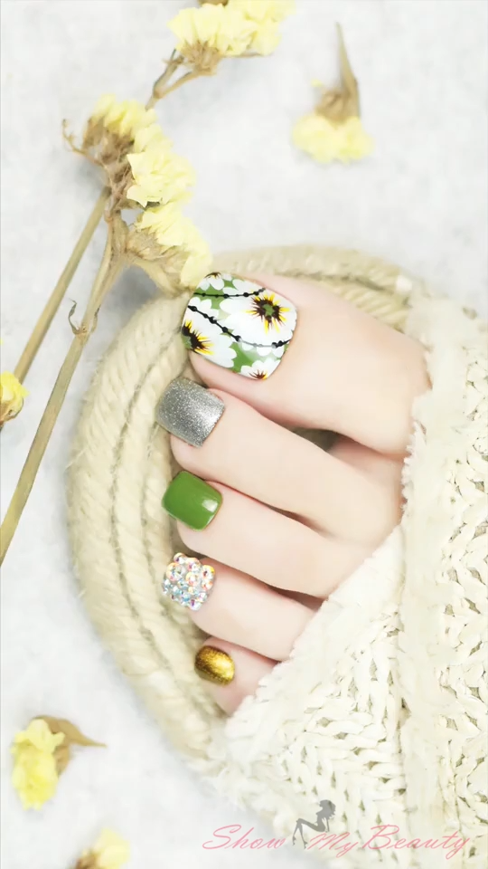 Photo of Flower Toe Nail Art Ideas