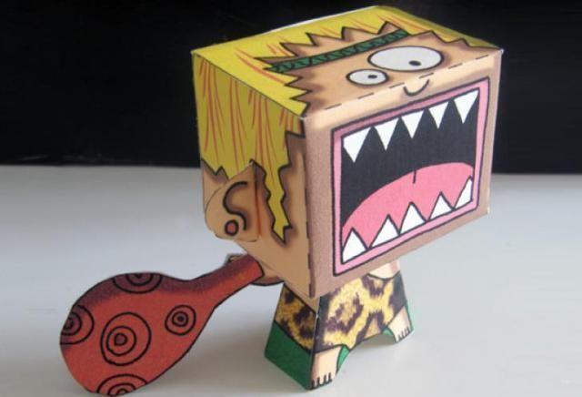 Cri Trimal – Das Höhlenmensch-Papierspielzeug – von Coco Flower Dies ist Cri Pr…