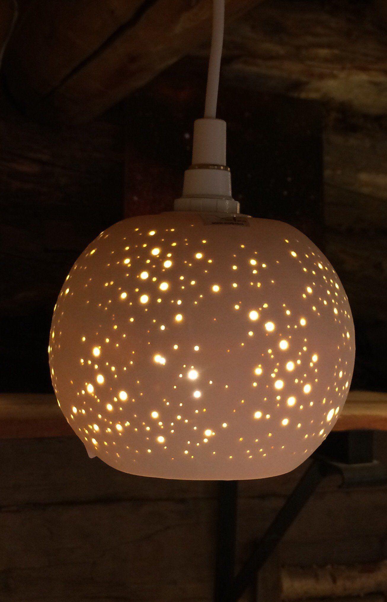 Sky Stj Rnhimmel Kula By Evalj Form O Gnista F Nsterlampor Eller Taklampa Ovanf R Matbord Mm Benvit Porslin Med Lamph Llare Paper Lamp Table Lamp Novelty Lamp