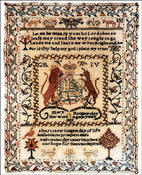 Sampler With Coat Of Arms