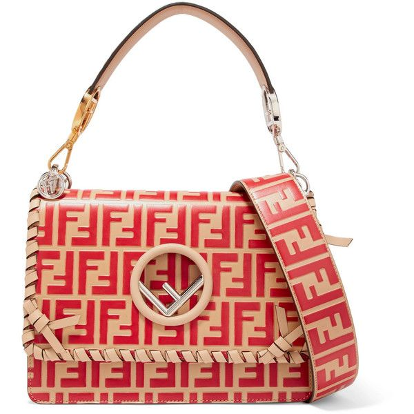 Kan I Two-tone Leather Shoulder Bag - Red Fendi r6U6zEeDVt