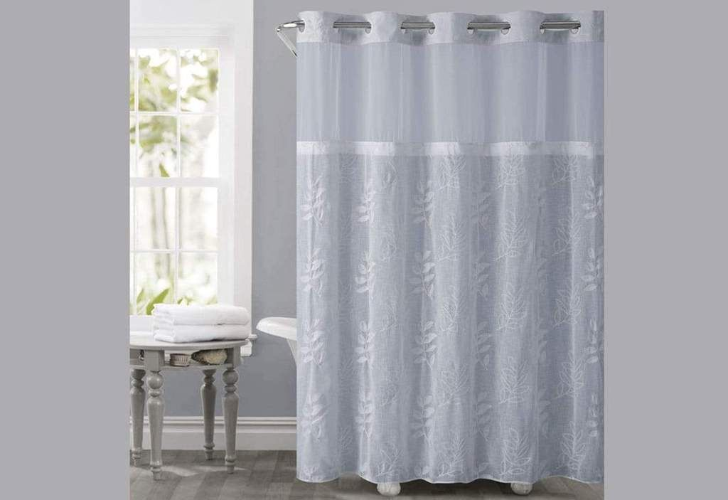 Hookless Palm Leaves Shower Curtain In 2020 Curtains Hookless