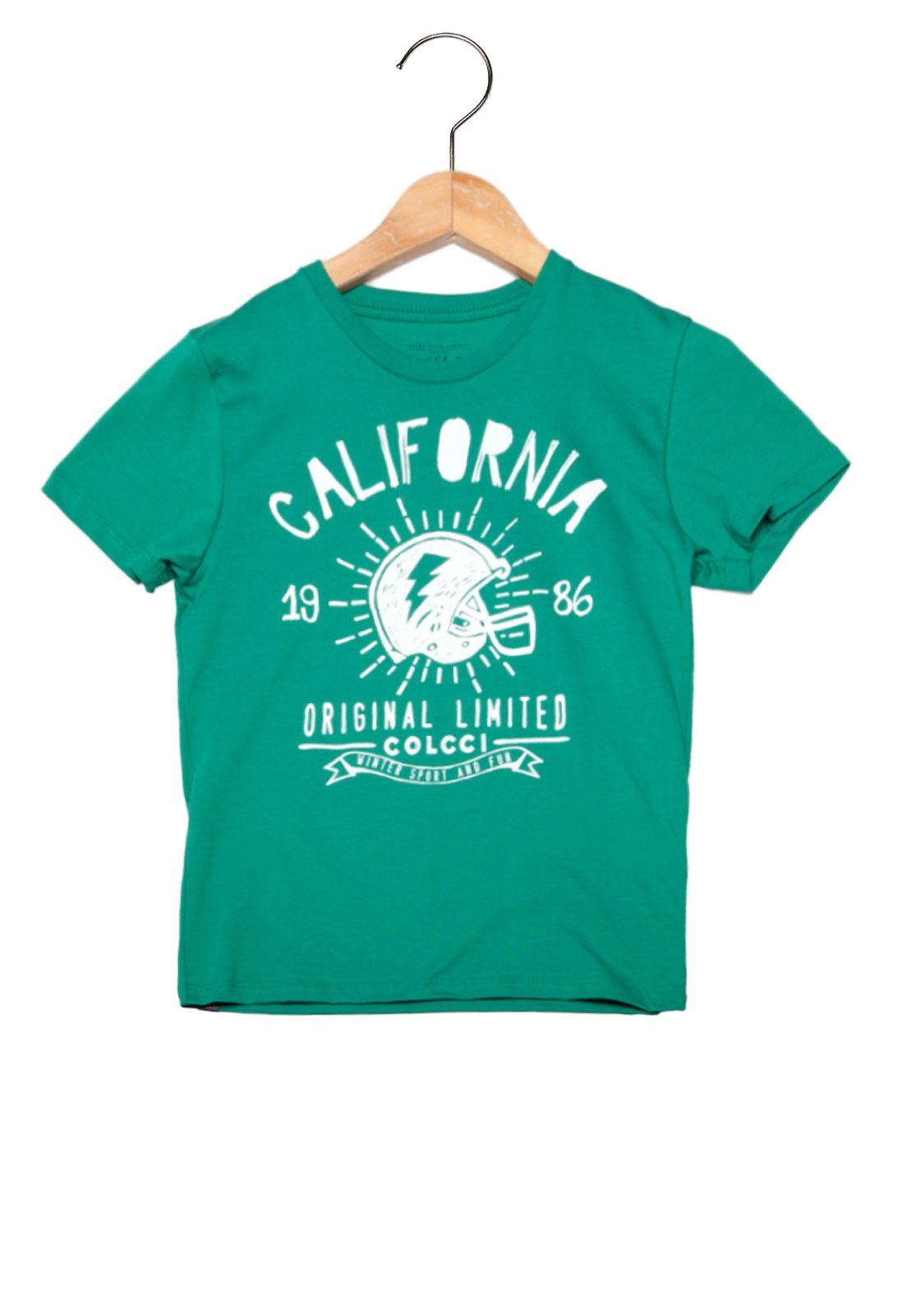 5a303e33d Camiseta Manga Curta Colcci Fun Limited Infantil Verde - Marca Colcci Fun  Manga, Diversão