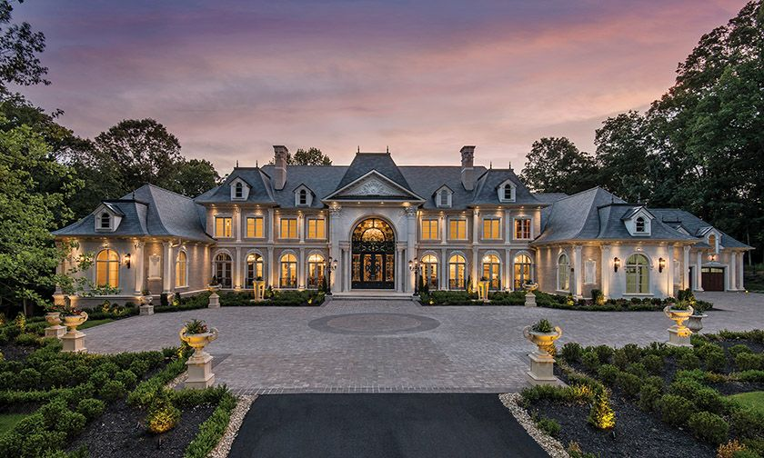 A Grand Chateau Style Home In Great Falls Features An Imposing