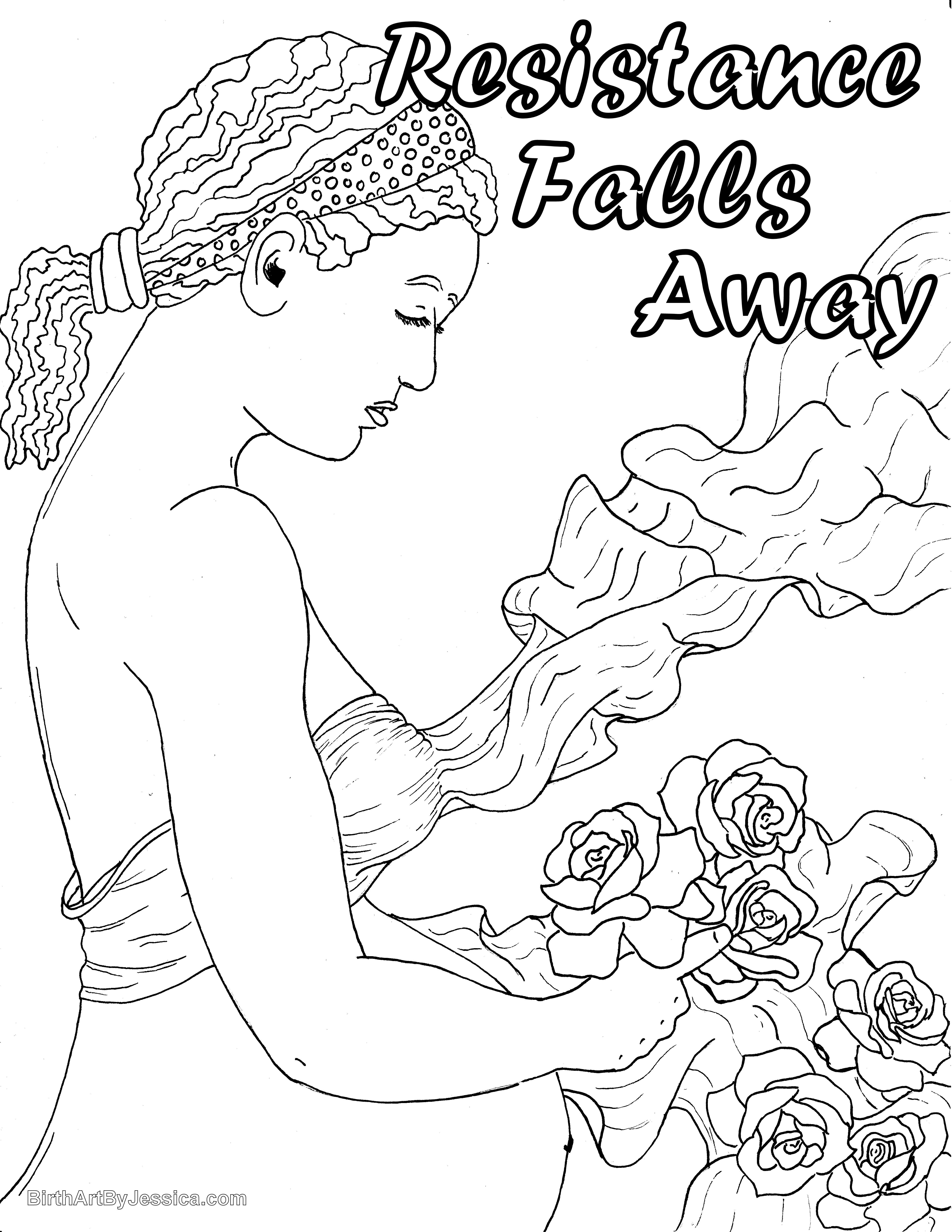 Birth Affirmation Coloring Page -Free Printable!- resistance falls ...