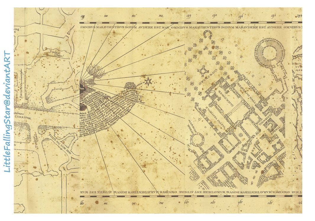 This Is A Copy Of The Marauders Map 36 Scans Stitched Together In