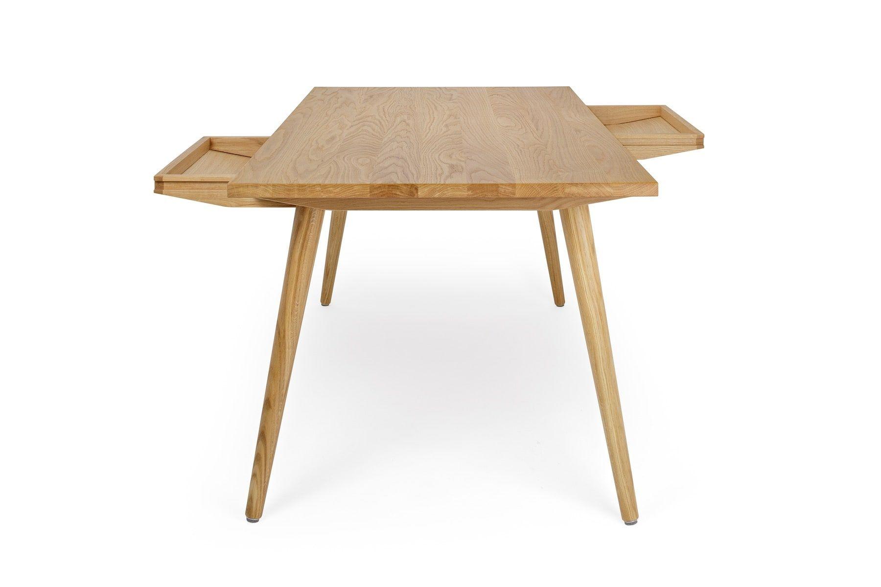 Tisch »Nikklas« mit Schubladen aus Eiche (160x80cm