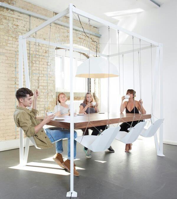 unkonventionell#Schaukel#Tischsittuation | Büro | Pinterest | Büros ...