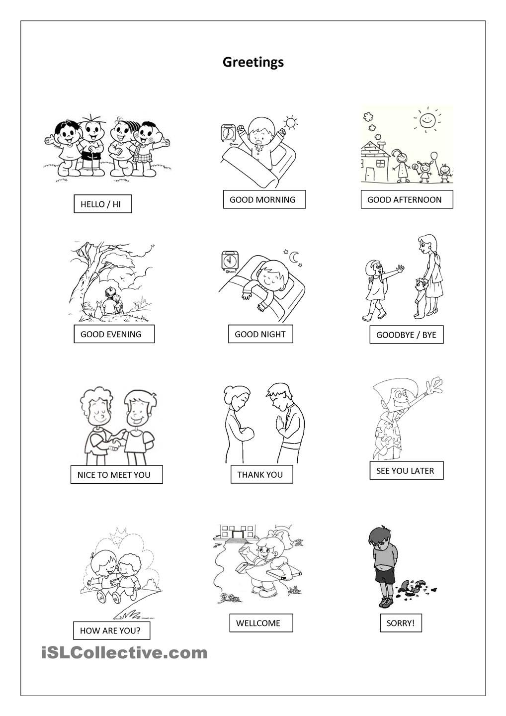 Worksheets Spanish Greetings Worksheets greetings pictionary unit 1 pinterest worksheets printable worksheet free esl made by teachers