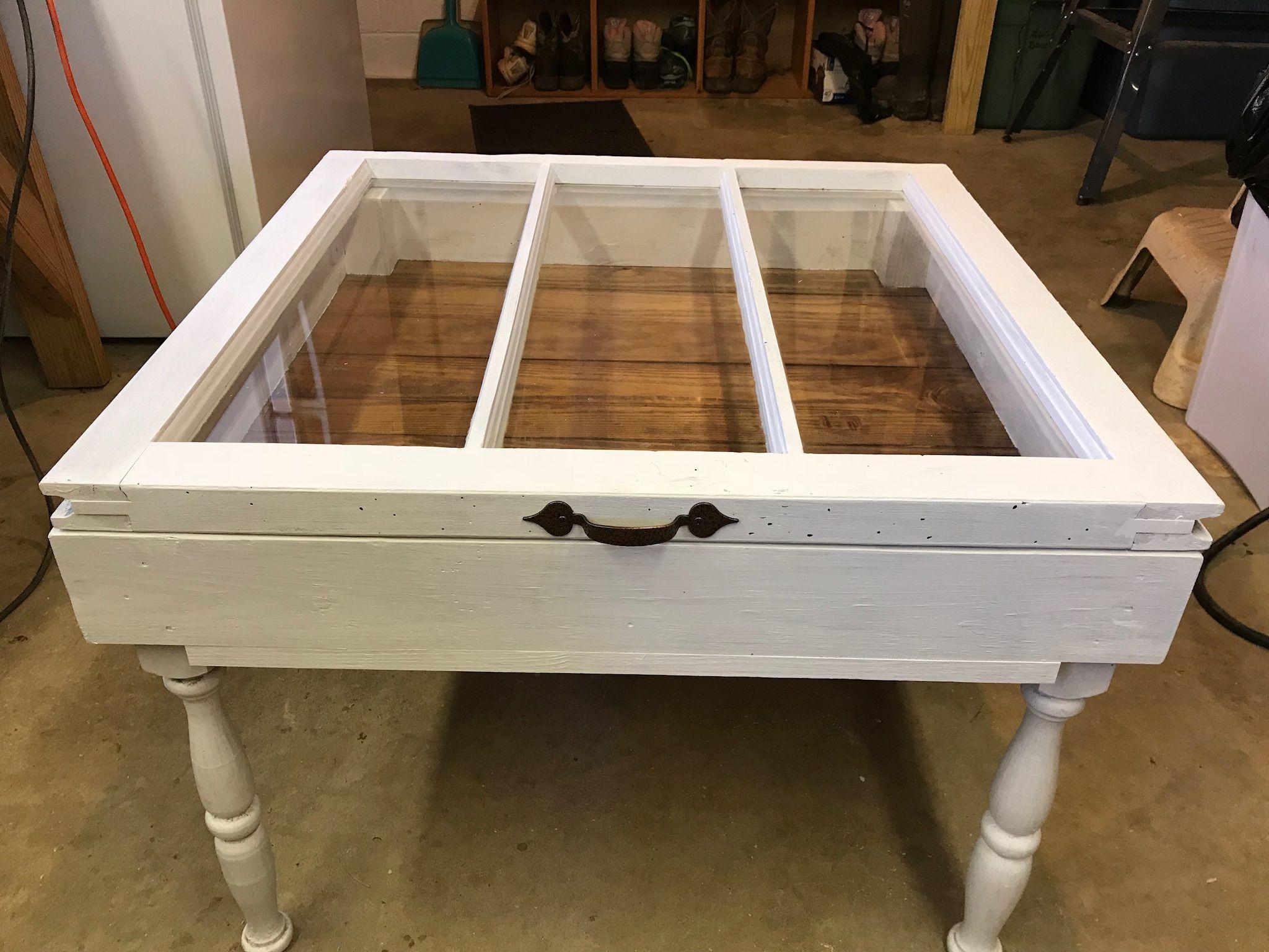 Old Window Shadow Box Coffee Table