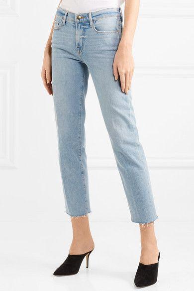 05c48465d79f6 FRAME - Le Nouveau Cropped Mid-rise Straight-leg Jeans - Light denim ...