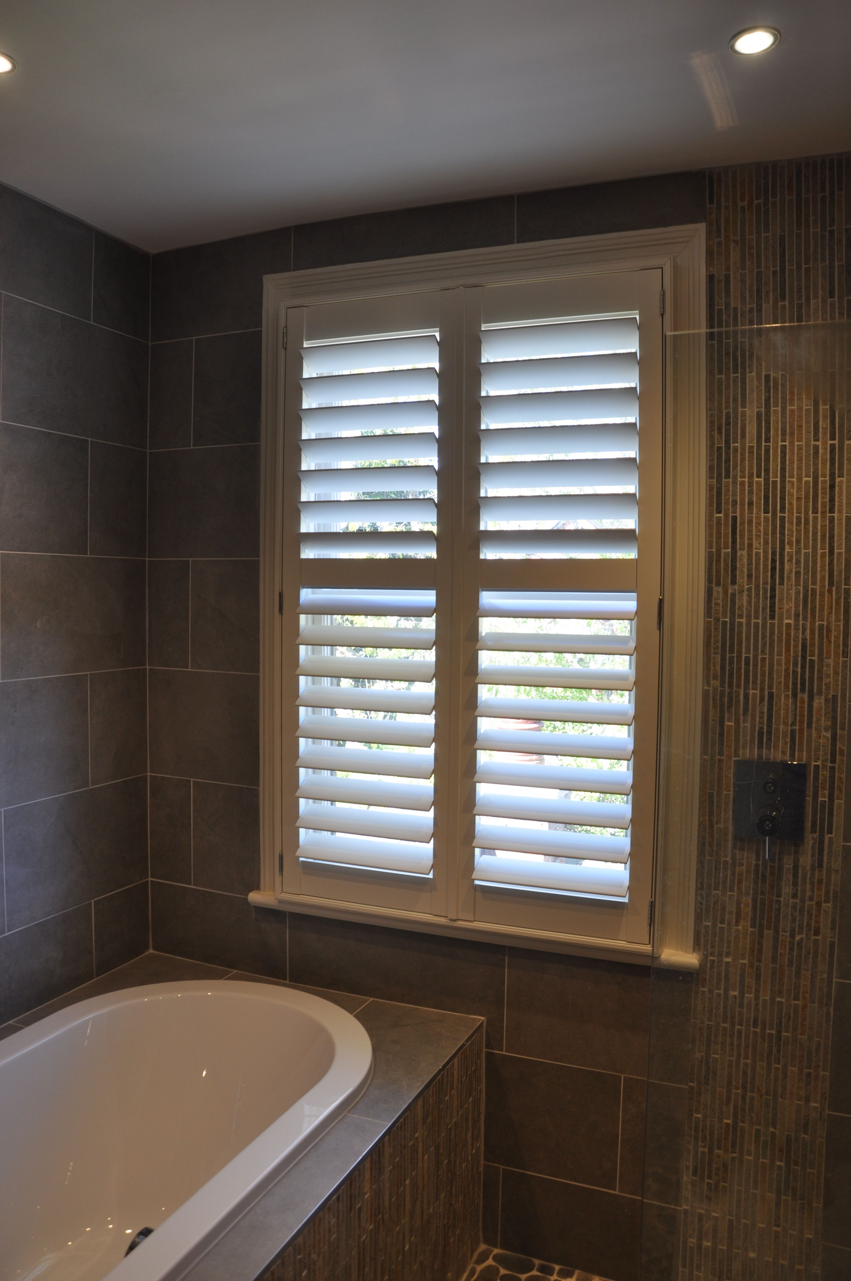 Beautifully Shuttered Bathroom Shutter Ed In York Large Louvres With Hidden Tilt Function The Colour