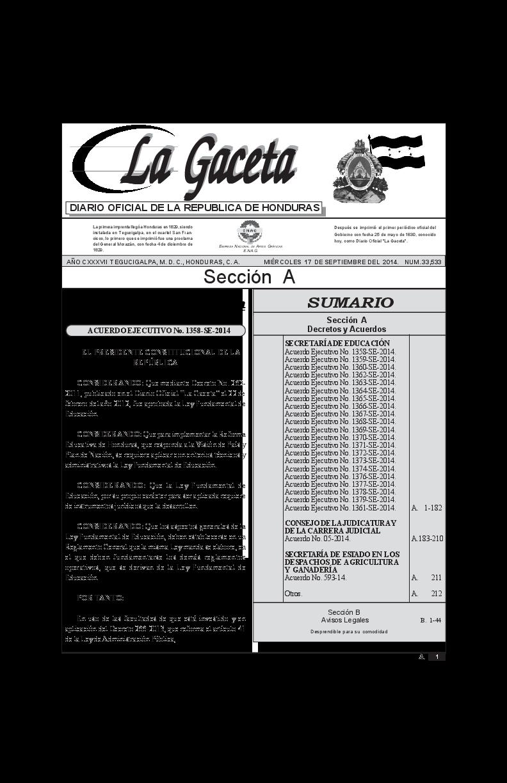 Reglamento De La Ley Fundamental De Educación Honduras Tegucigalpa How To Plan Diez