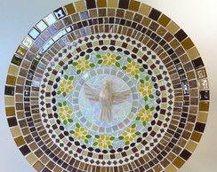 Mandala Do Divino Espírito Santo Ocre 50