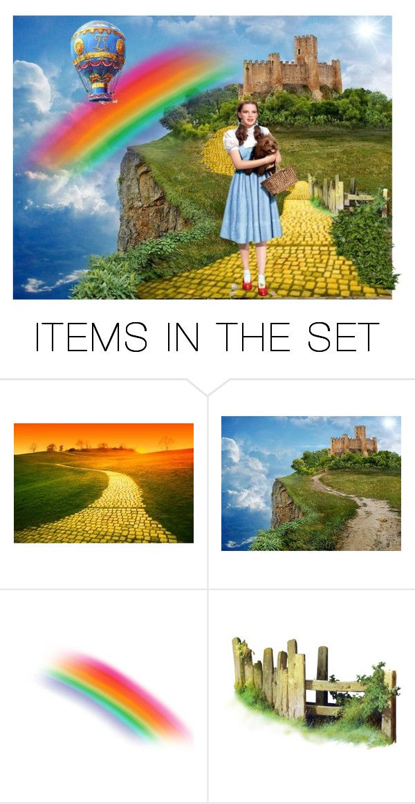 """""""Over The Rainbow"""" by sjlew ❤ liked on Polyvore featuring art"""