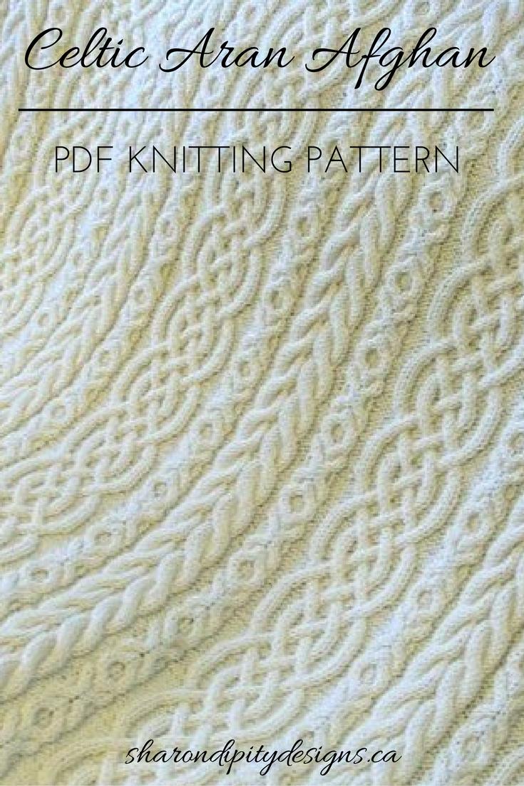 Celtic Aran Afghan | Cable Knit Afghan | Aran Afghan | PDF Knitting ...