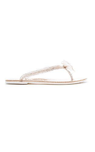 70d844083e826a New Womens Jelly Bow Rhinestone Thong Flat Summer Sandal CHAMPAGNE 7      Visit the image link more details. (This is an affiliate link)   WomensFlatsSandals