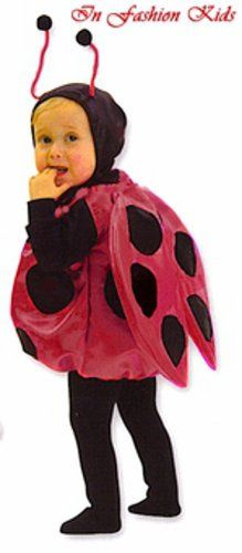 ladybug costume deluxe satin toddler fits size 18 month 3t